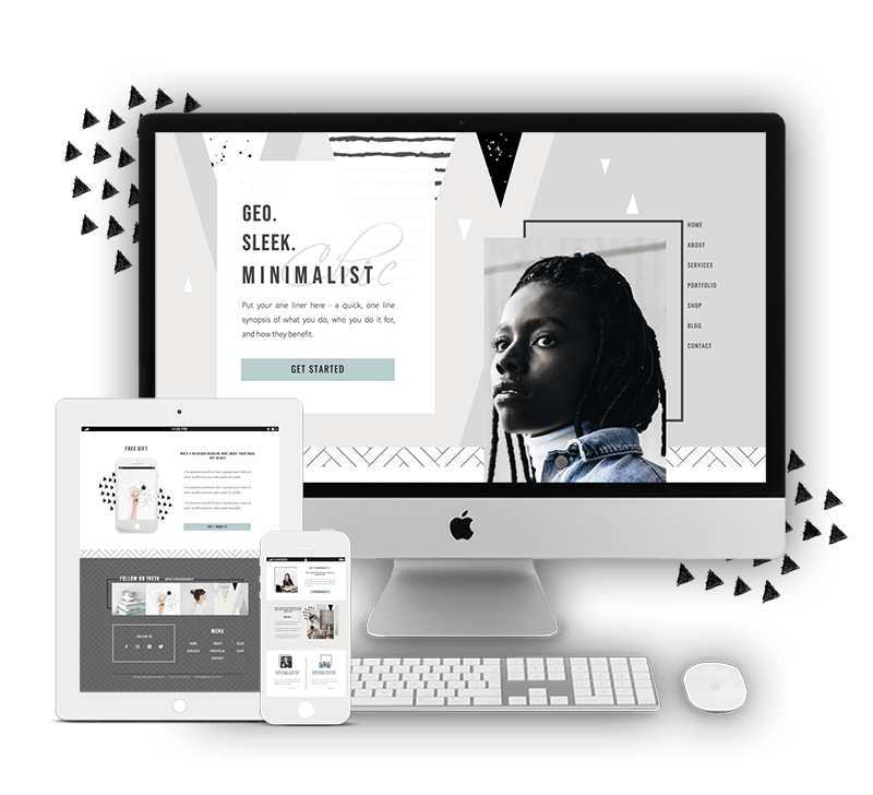 Minimalist Showit Website Template for Women Coaches, Consultants, Service Providers