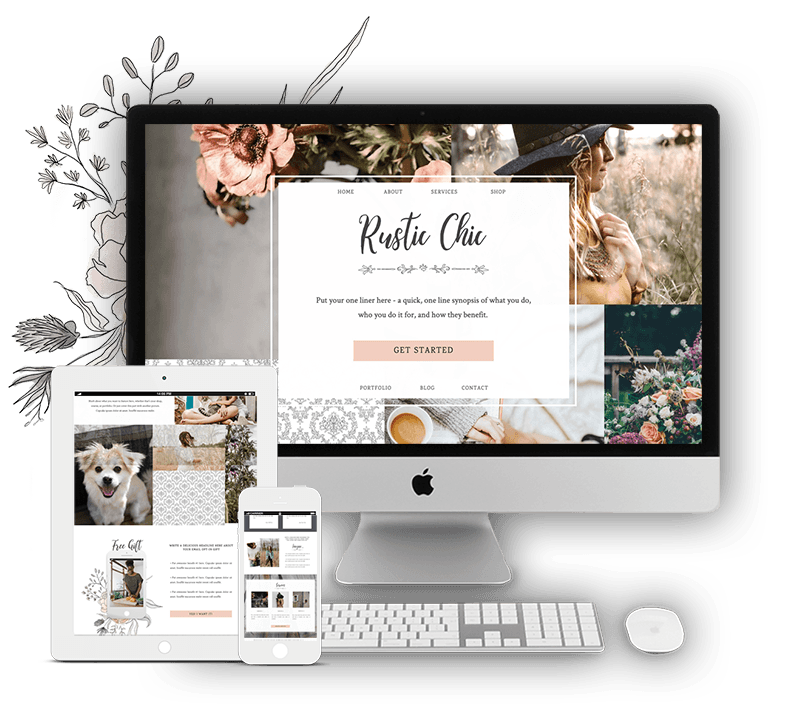 Rustic Chic Showit Website Template for Women Coaches, Consultants, Service Providers