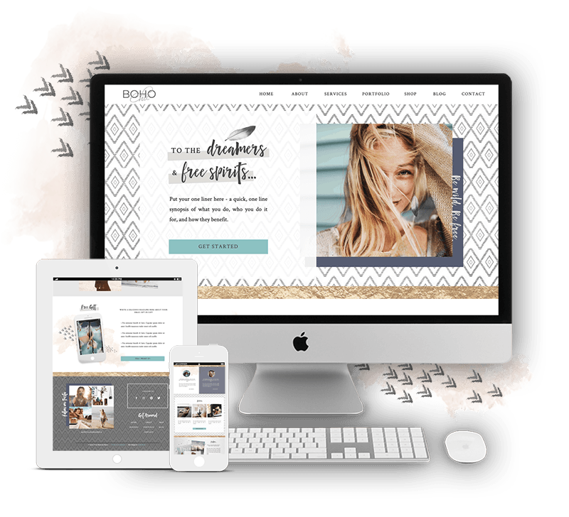 Boho Chic Showit Website Template for Women Coaches, Consultants, Service Providers
