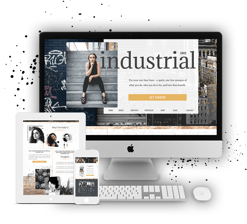 Industrial Showit Website Template for Women Coaches, Consultants, Service Providers