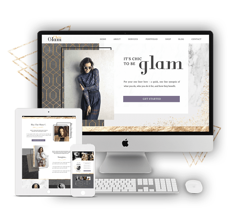 Glam Showit Website Template for Women Coaches, Consultants, Service Providers