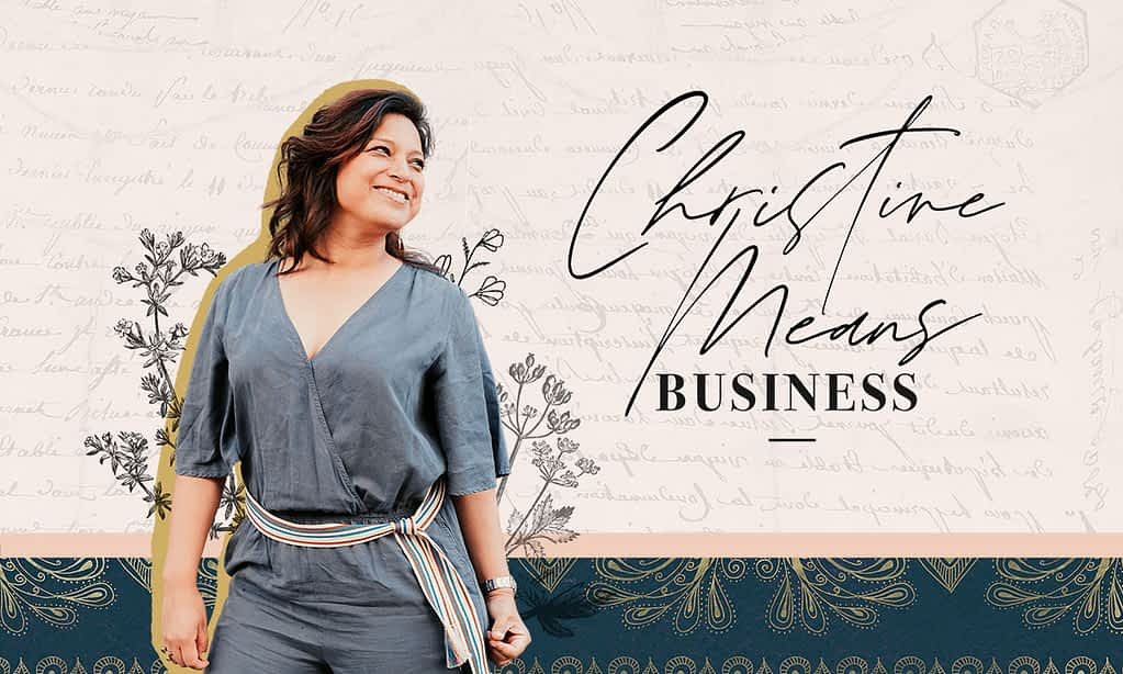 Christine Means Business Brand Poster | by Tracy Raftl Design