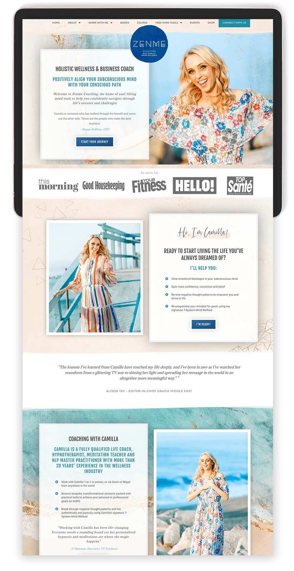 Image of Camilla Sacre-Dallerup's Website by Tracy Raftl Design