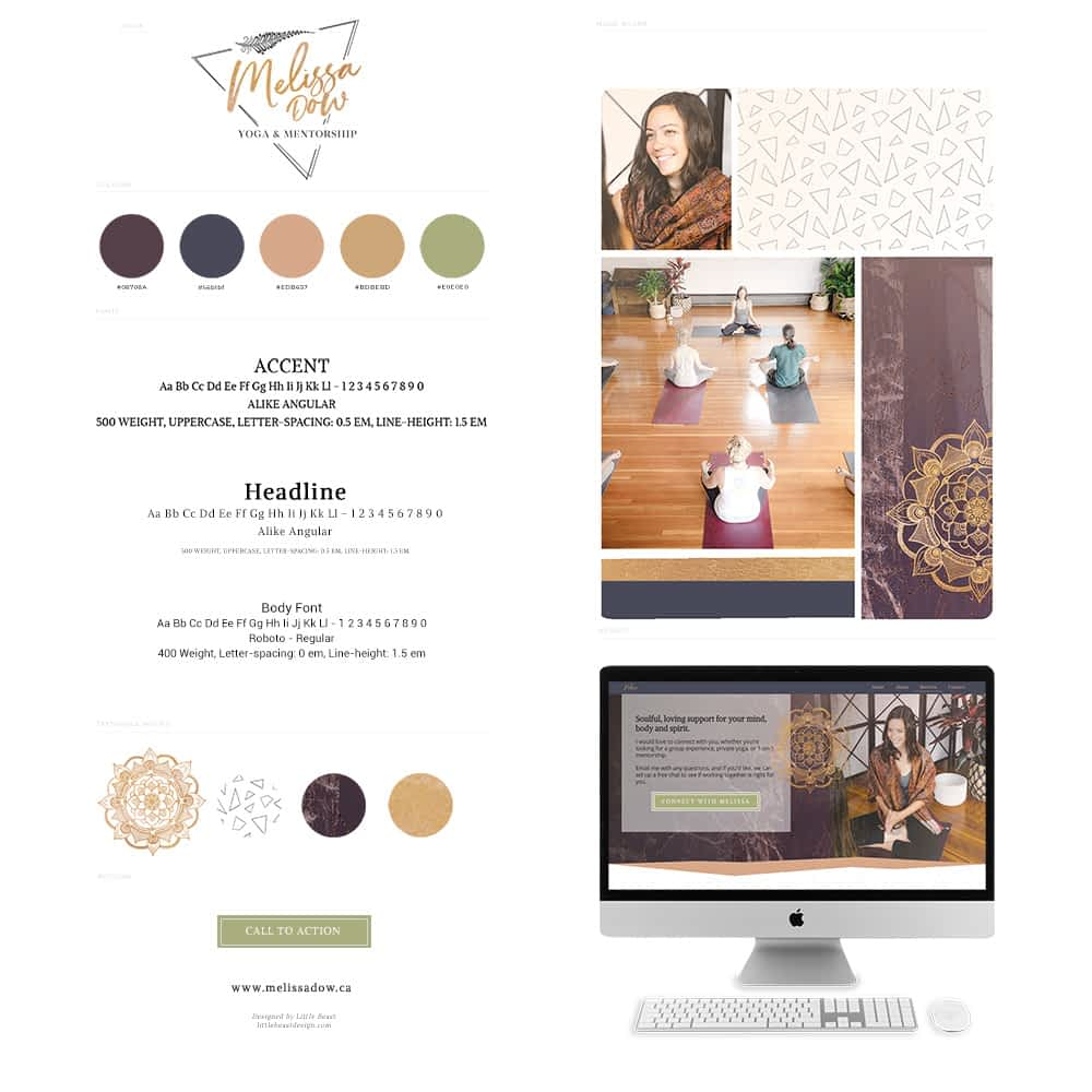 Melissa Dow brand style guide | by Tracy Raftl Design