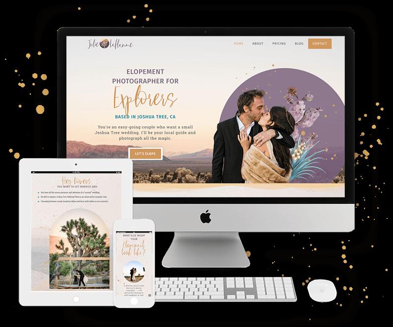 Julie Laflamme's Website by Tracy Raftl Design
