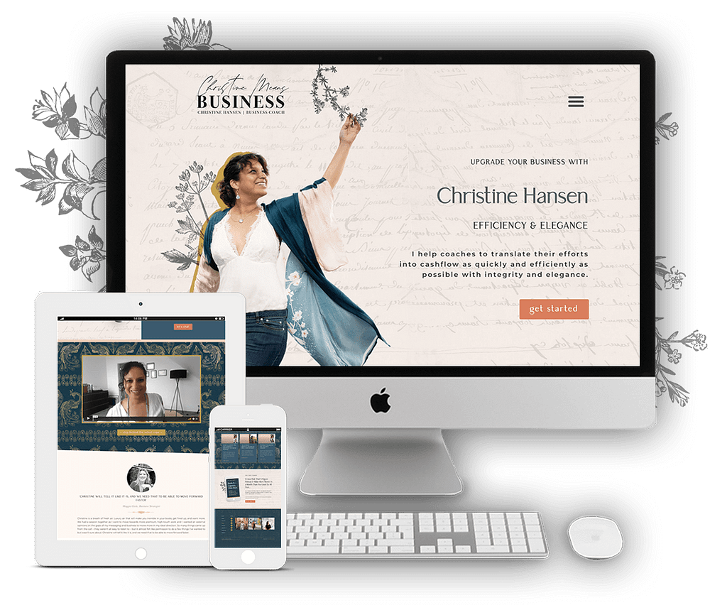 Christine Means Business Website | by Tracy Raftl Design