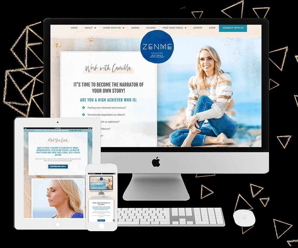Image of Brand & Web Design for Camilla Sacre-Dallerup | by Tracy Raftl Design
