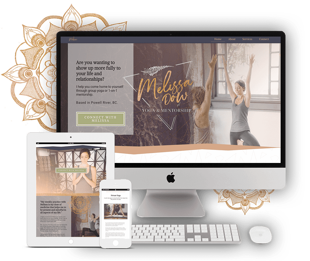 Melissa Dow's website | by Tracy Raftl Design