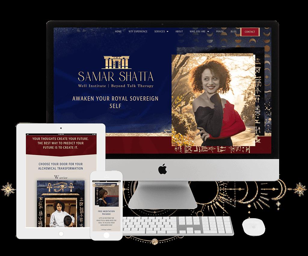 Samar Shatta website by Tracy Raftl Design