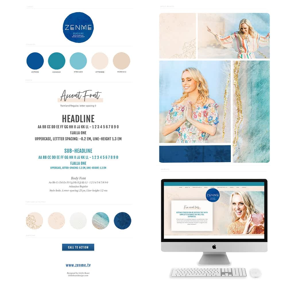 Brand Style Guide for Camilla Sacre-Dallerup | by Tracy Raftl Design