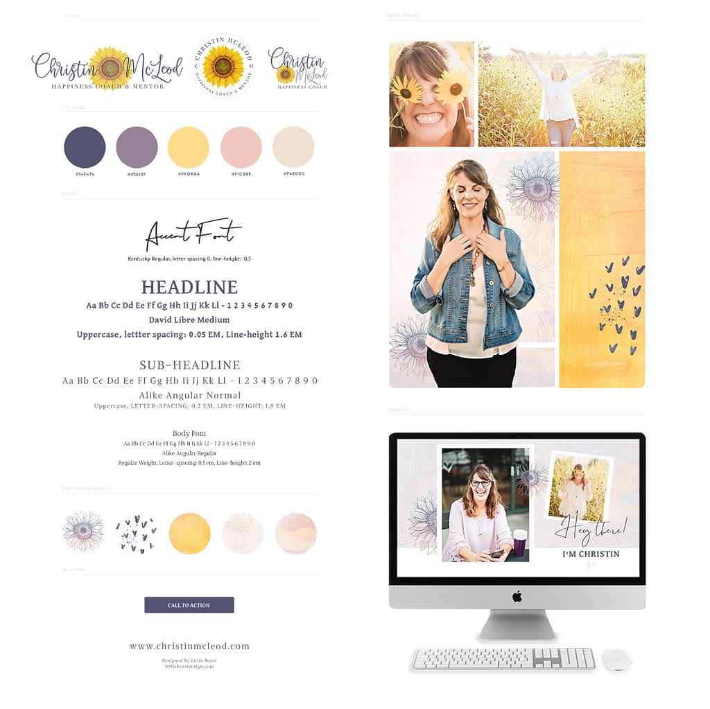 Christin McLeod's brand style guide | by Tracy Raftl Design