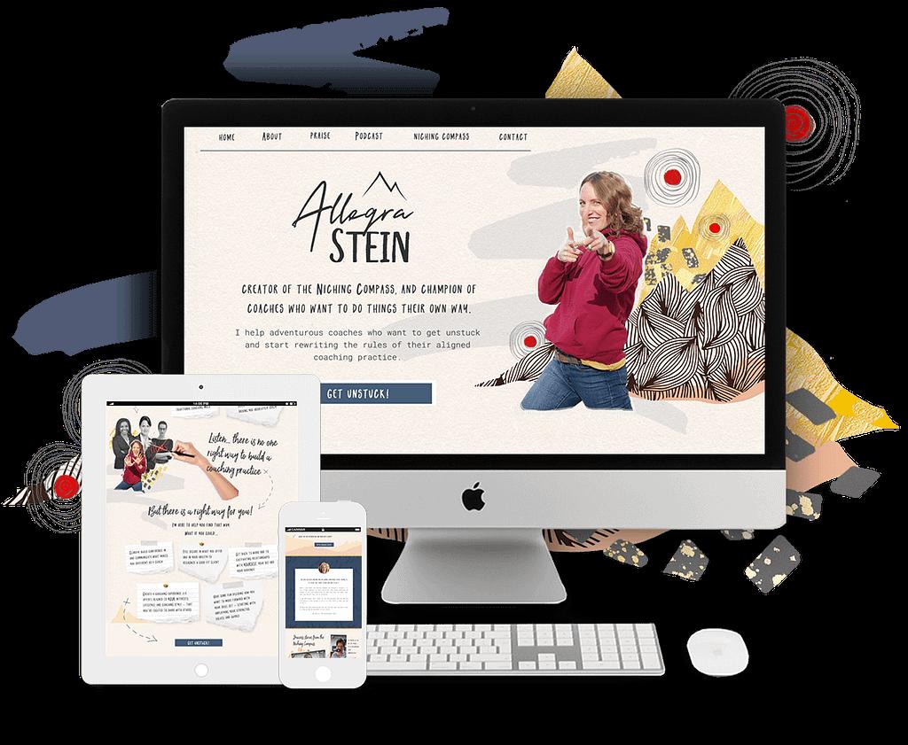 Allegra Stein website | by Tracy Raftl Design