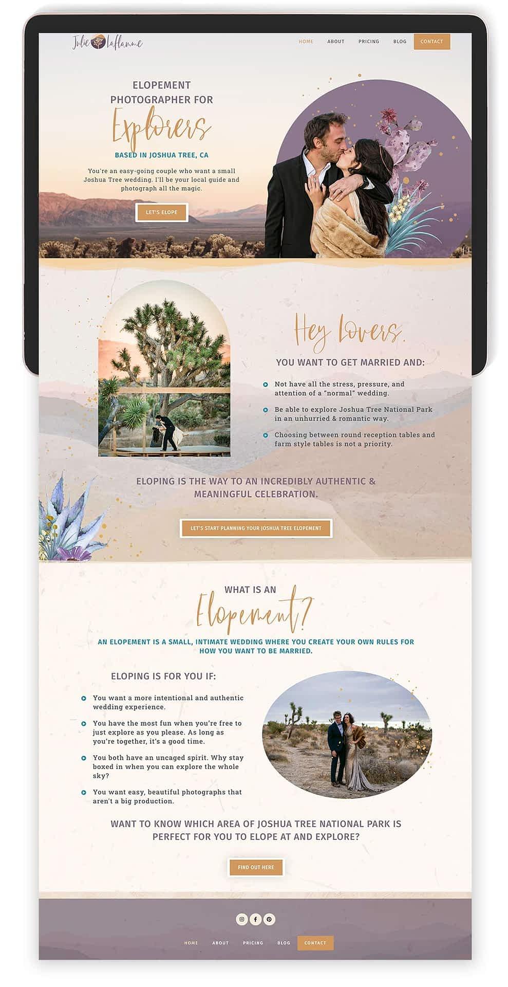 Image of Julie Laflamme's Website by Tracy Raftl Design
