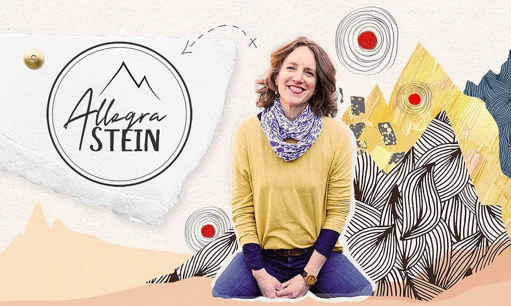 Allegra Stein brand poster | by Tracy Raftl Design