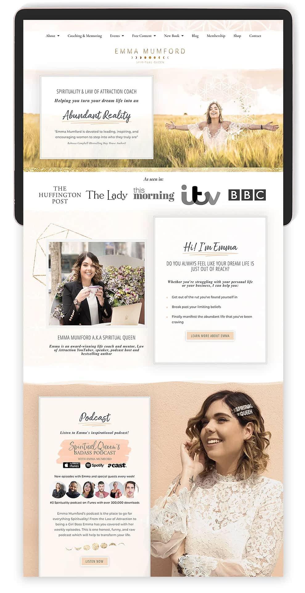 Image of Emma Mumford's Website by Tracy Raftl Design