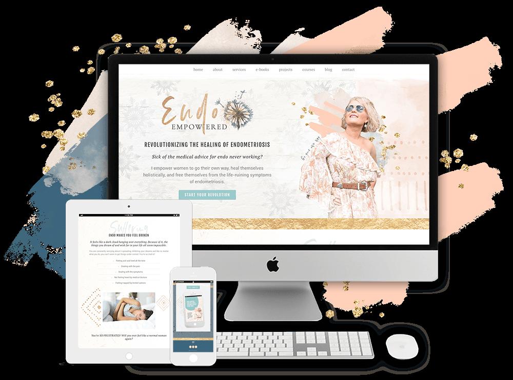 Mel Turner, Endo Empowered website by Tracy Raftl Design