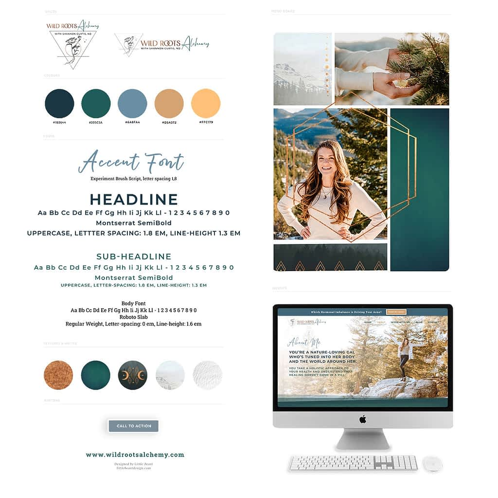 Shannon Curtis ND - Naturopath Brand style guide by Tracy Raftl