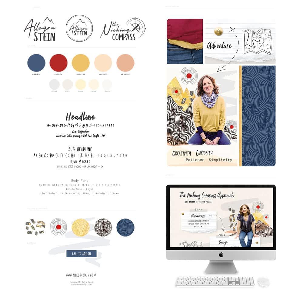 Allegra Stein brand style guide | by Tracy Raftl Design