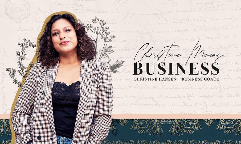 Christine Means Business Brand Poster