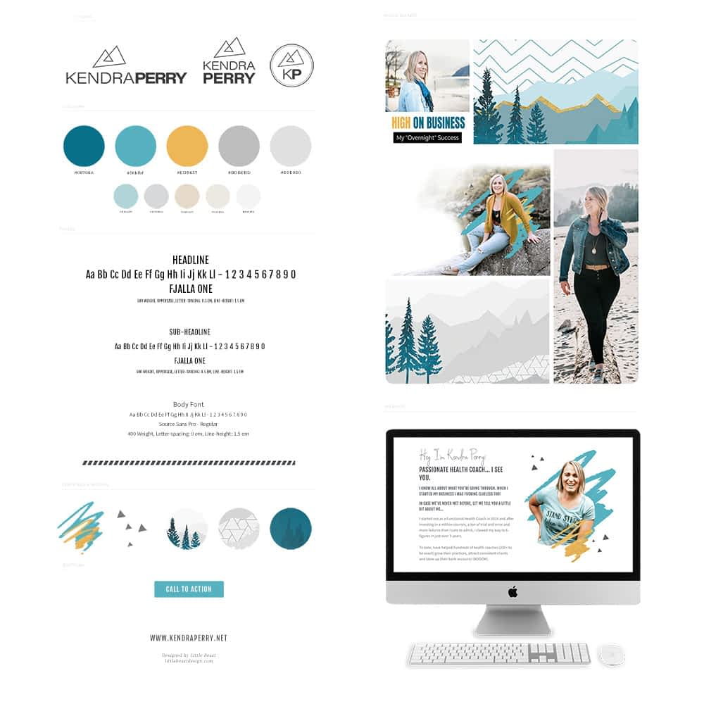 Kendra Perry's brand style guide designed by Tracy Raftl
