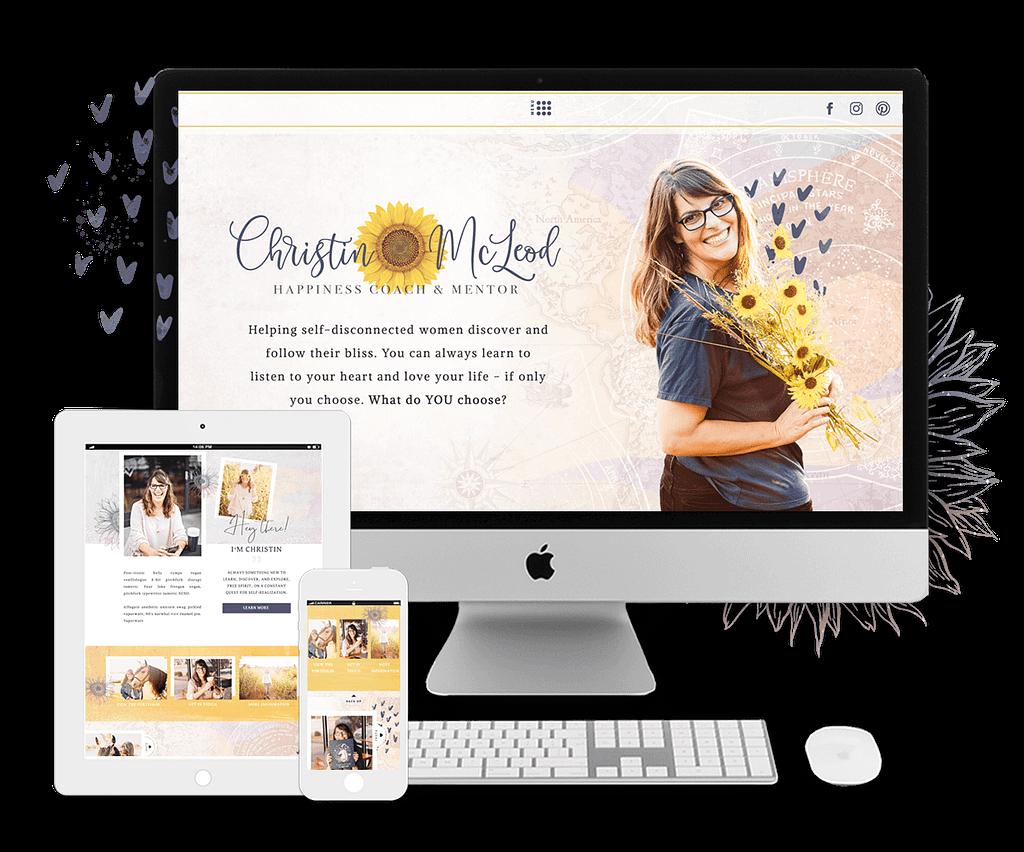 Christin McLeod's website | by Tracy Raftl Design