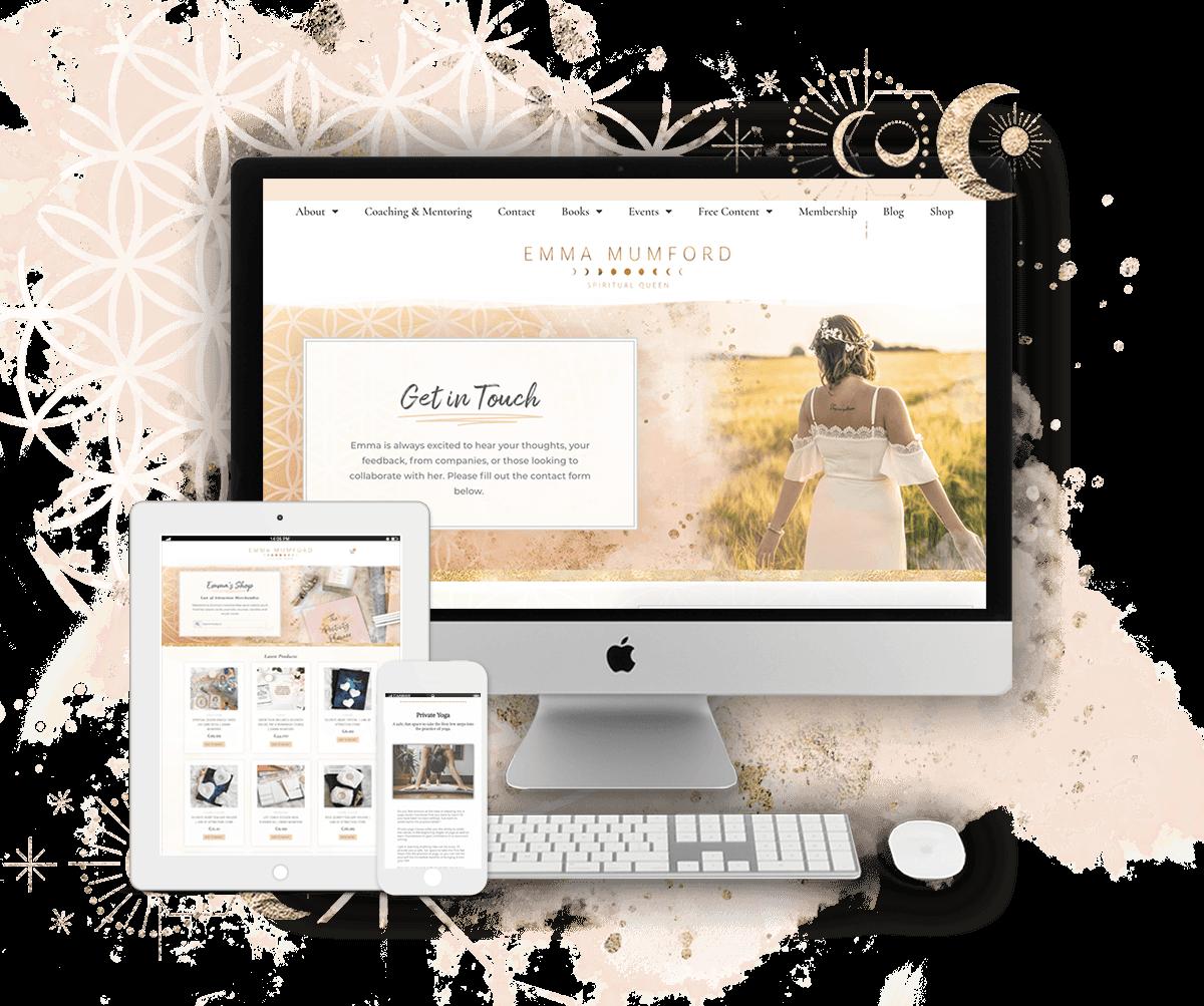 Emma Mumford website by Tracy Raftl Design