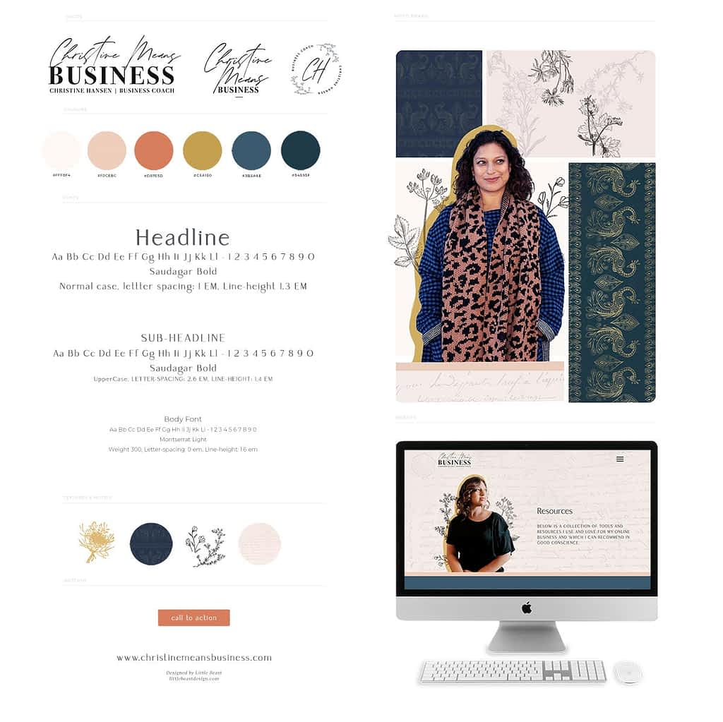 Christine Means Business Brand Style Guide | by Tracy Raftl Design