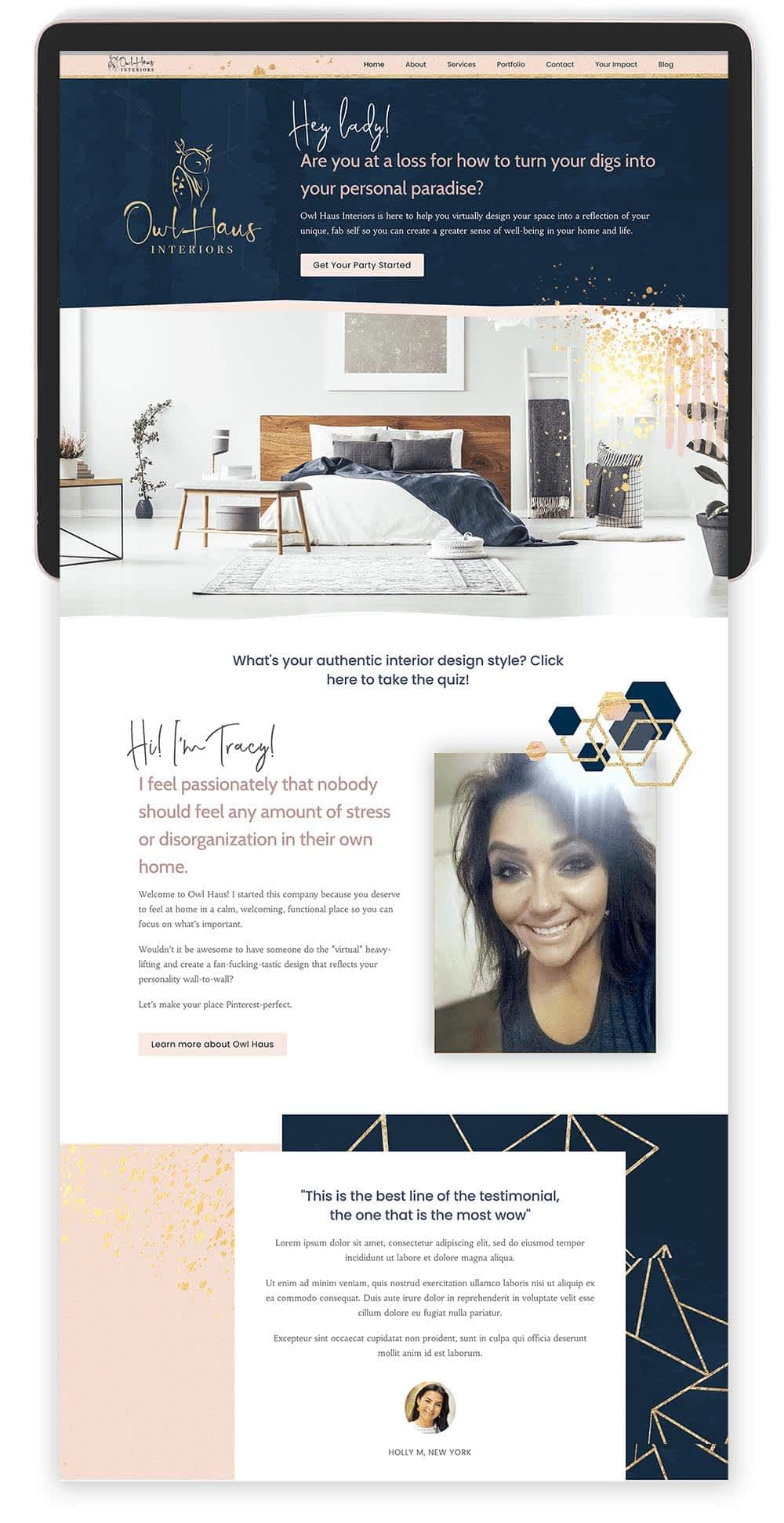 Image of Owl Haus's Website by Tracy Raftl Design